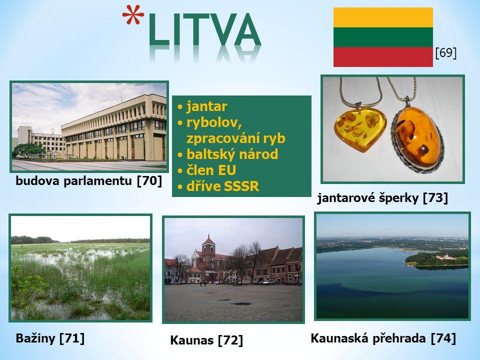 LITVA jantar rybolov, zpracování ryb baltský národ člen EU dříve SSSR