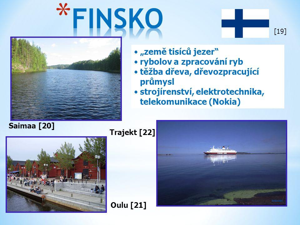 """FINSKO """"země tisíců jezer rybolov a zpracování ryb"""