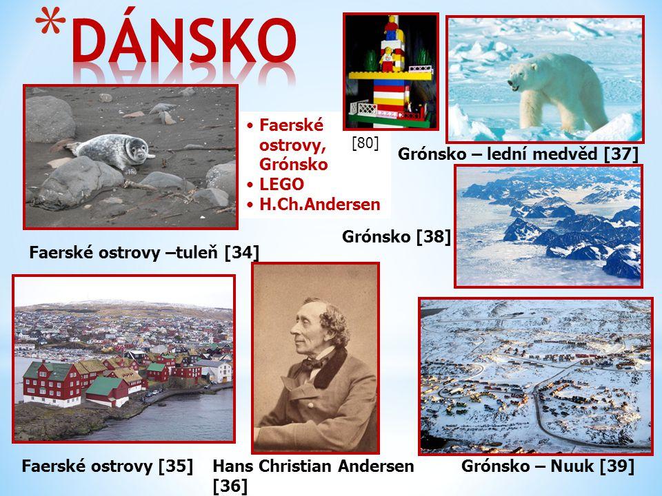 DÁNSKO Faerské ostrovy, Grónsko LEGO H.Ch.Andersen