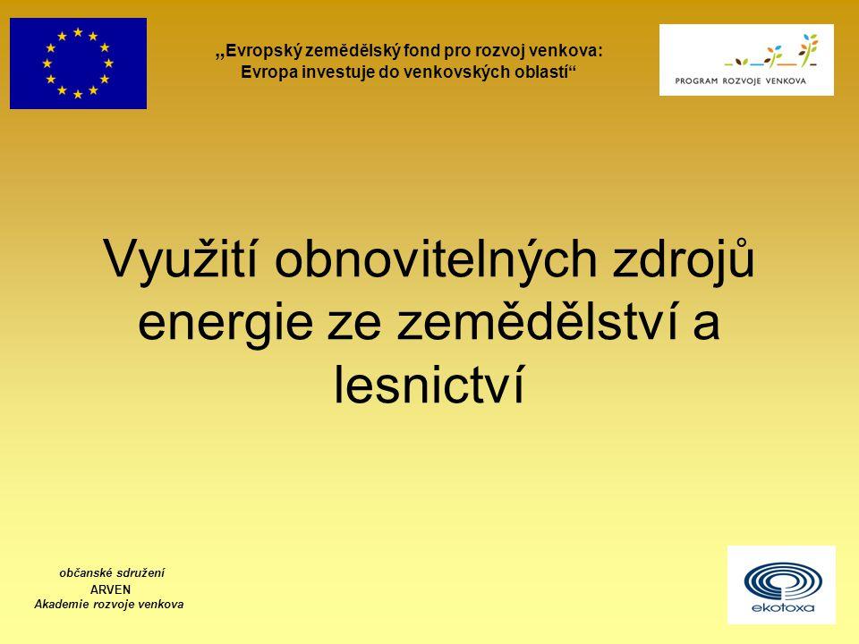 Využití obnovitelných zdrojů energie ze zemědělství a lesnictví