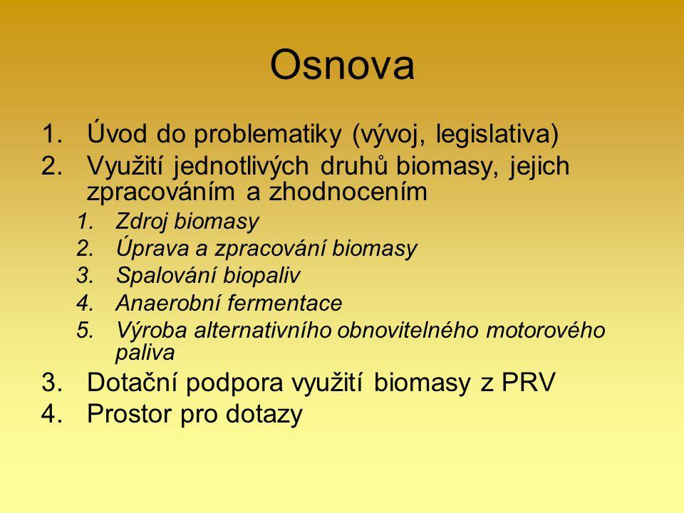 Osnova Úvod do problematiky (vývoj, legislativa)