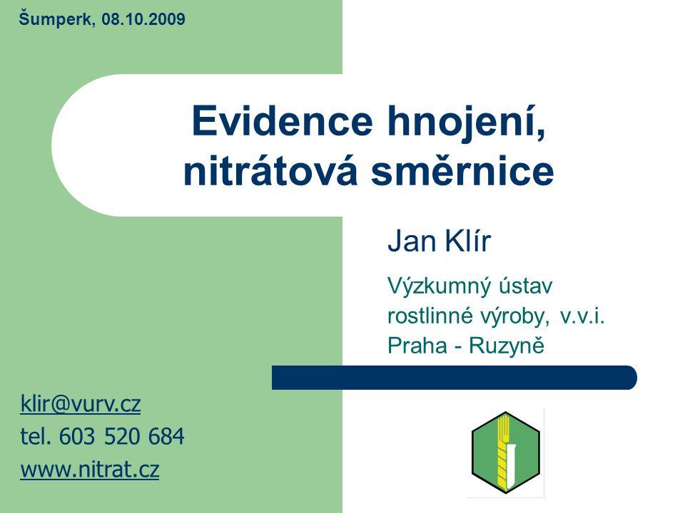 Evidence hnojení, nitrátová směrnice
