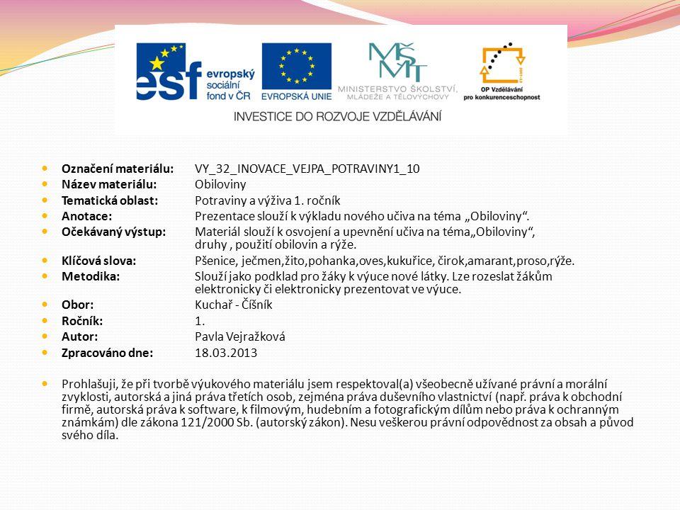 Označení materiálu: VY_32_INOVACE_VEJPA_POTRAVINY1_10
