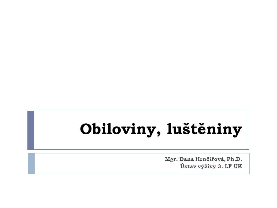 Mgr. Dana Hrnčířová, Ph.D. Ústav výživy 3. LF UK