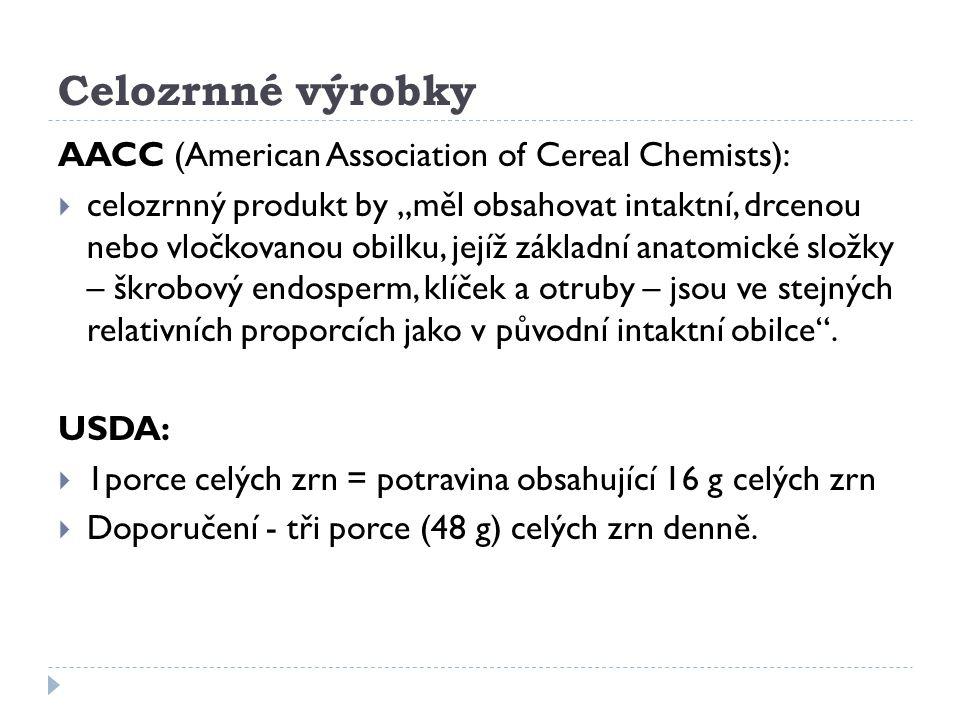 Celozrnné výrobky AACC (American Association of Cereal Chemists):
