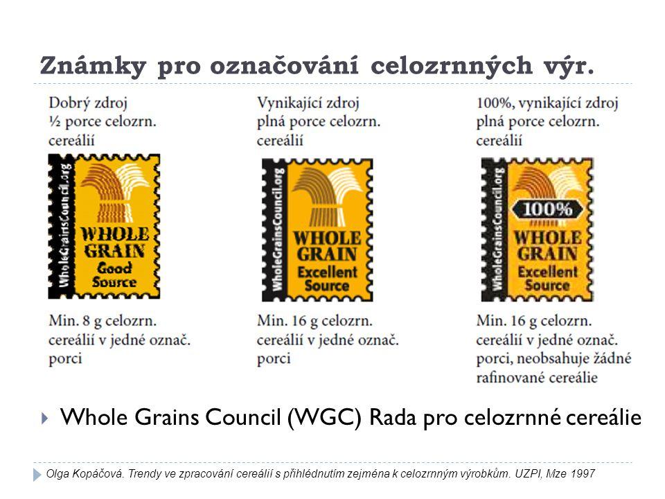 Známky pro označování celozrnných výr.