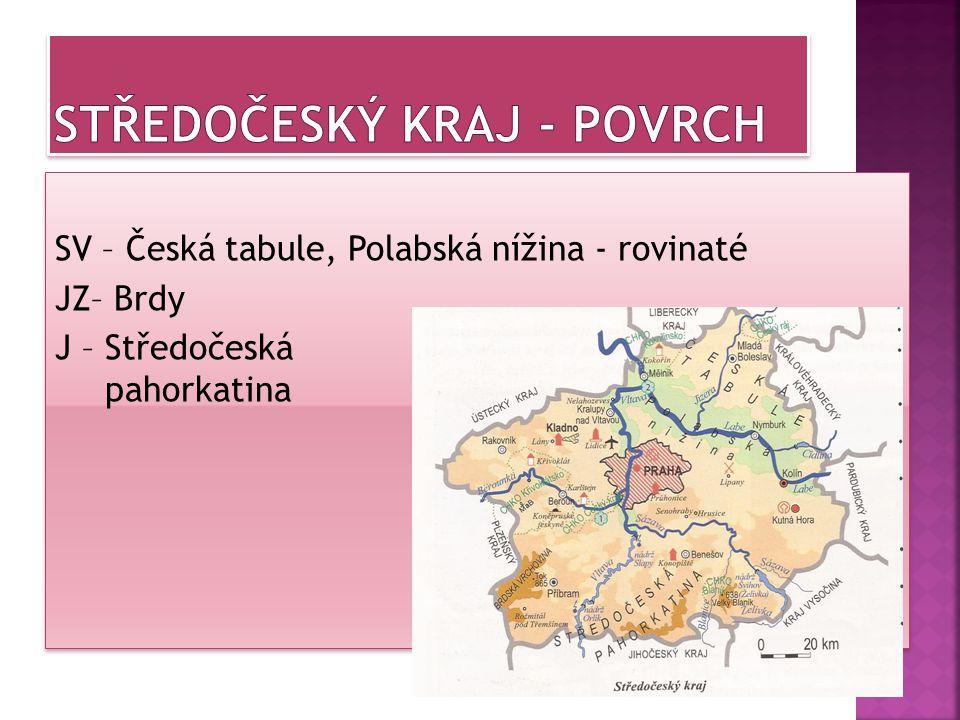 Středočeský kraj - povrch