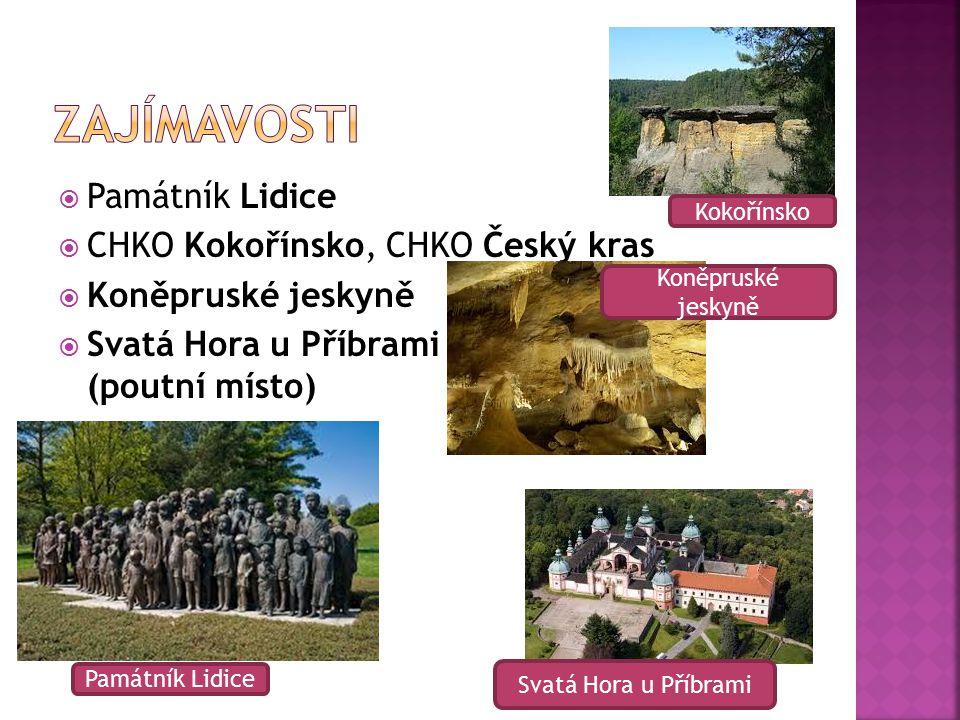 Zajímavosti Památník Lidice CHKO Kokořínsko, CHKO Český kras