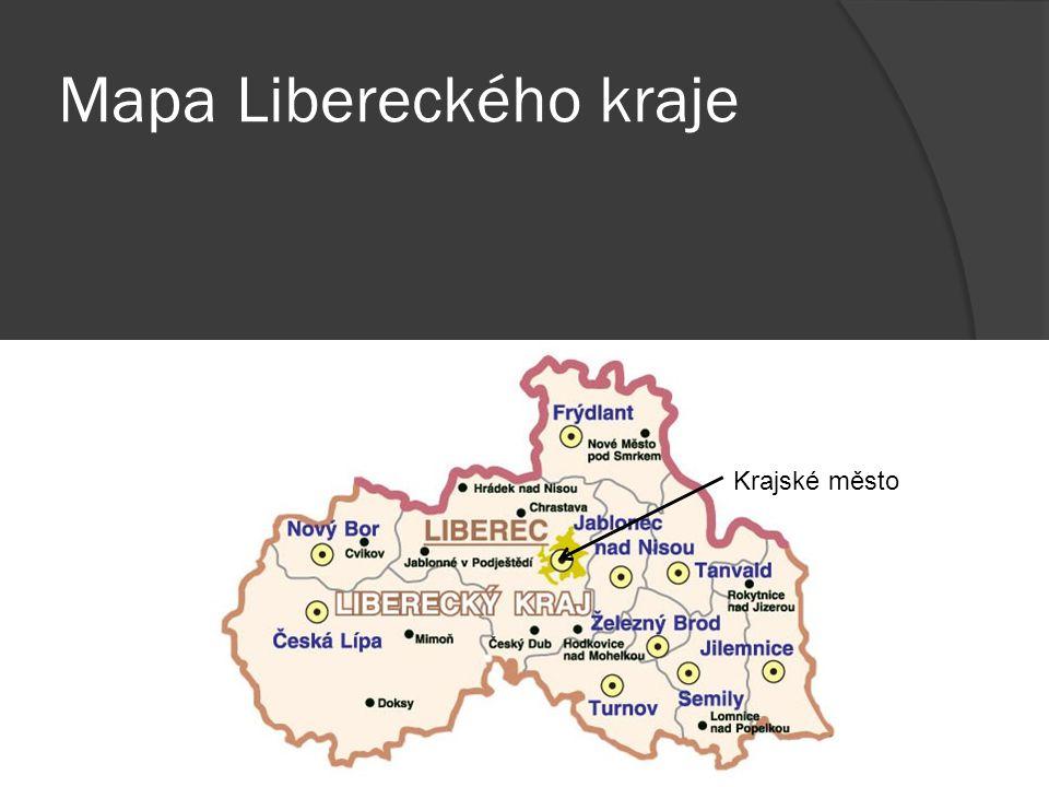 Mapa Libereckého kraje