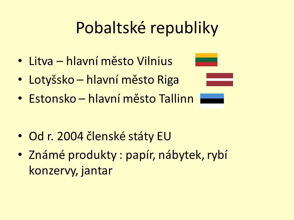 Pobaltské republiky Litva – hlavní město Vilnius