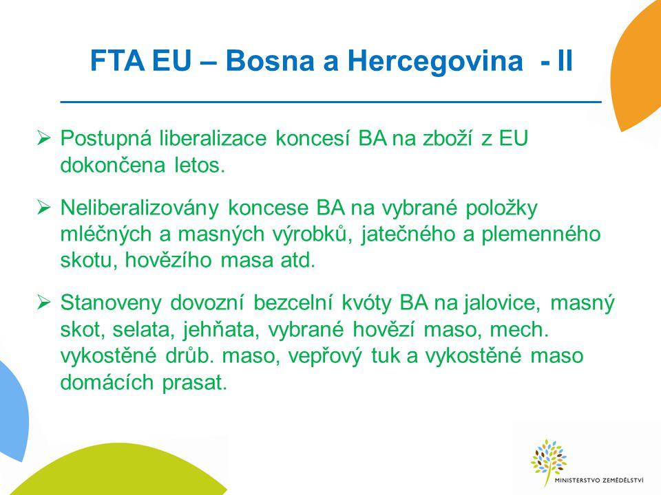 FTA EU – Bosna a Hercegovina - II