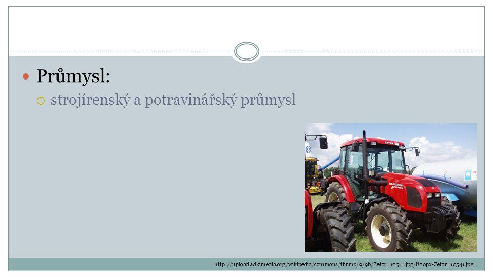 Průmysl: strojírenský a potravinářský průmysl