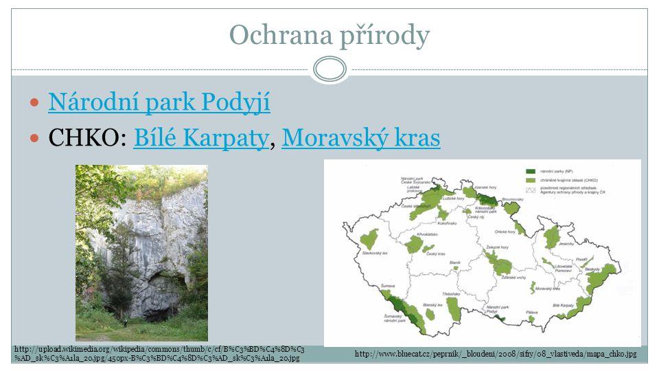 Ochrana přírody Národní park Podyjí CHKO: Bílé Karpaty, Moravský kras