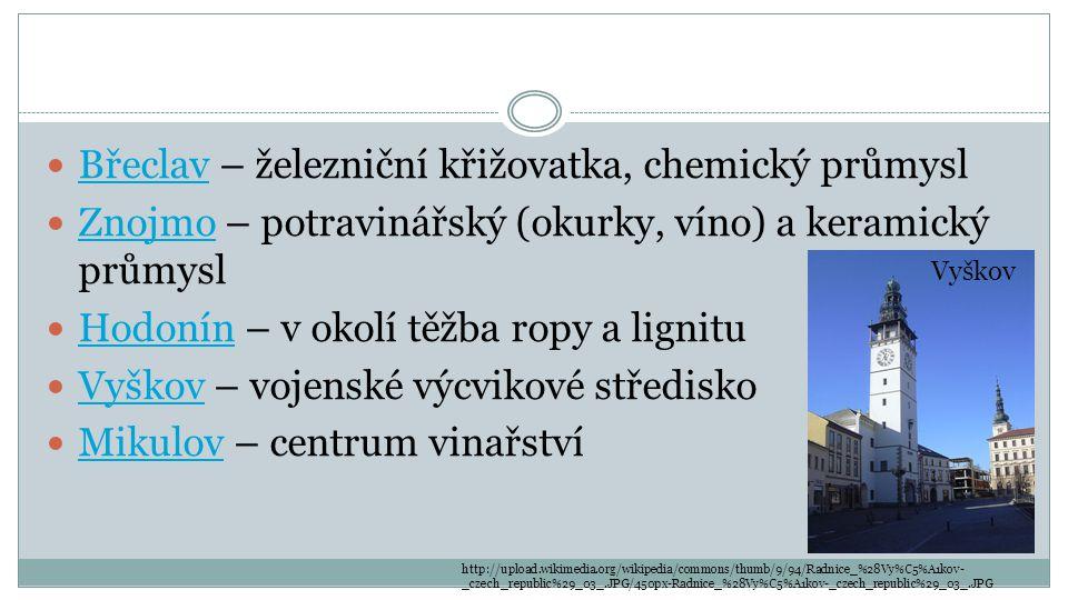 Břeclav – železniční křižovatka, chemický průmysl