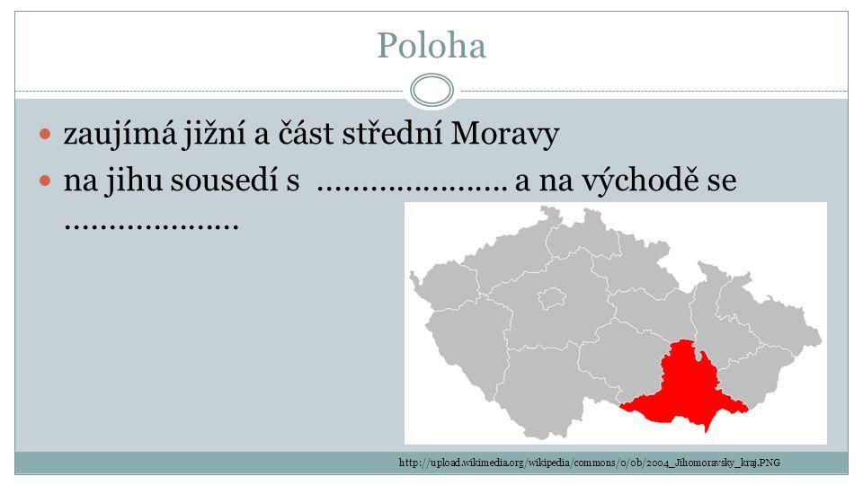 Poloha zaujímá jižní a část střední Moravy