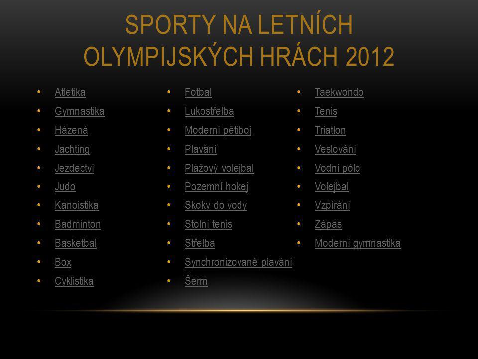 Sporty na letních olympijských hrách 2012
