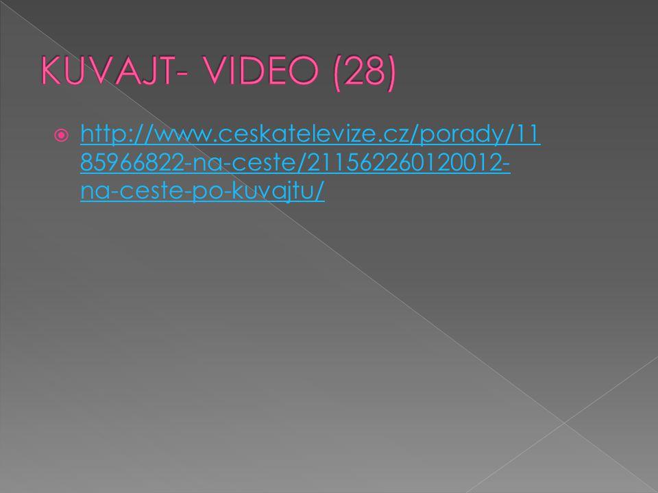 KUVAJT- VIDEO (28) http://www.ceskatelevize.cz/porady/1185966822-na-ceste/211562260120012-na-ceste-po-kuvajtu/