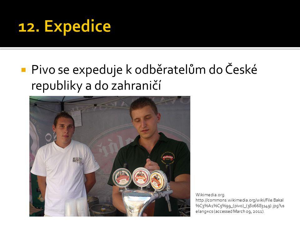 12. Expedice Pivo se expeduje k odběratelům do České republiky a do zahraničí.