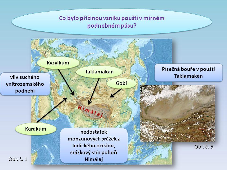 Co bylo příčinou vzniku pouští v mírném podnebném pásu