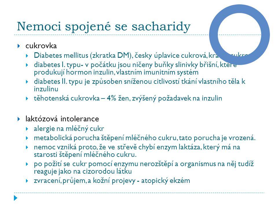 Nemoci spojené se sacharidy