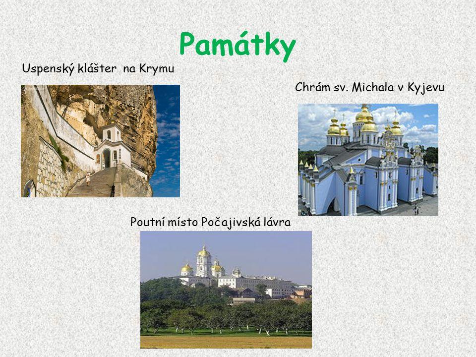 Památky Uspenský klášter na Krymu Chrám sv. Michala v Kyjevu