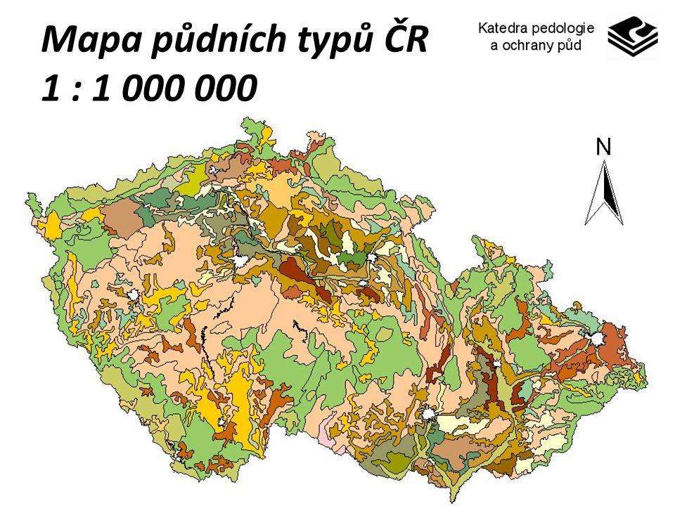 Mapa půdních typů ČR 1 : 1 000 000