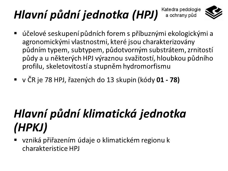 Hlavní půdní jednotka (HPJ)