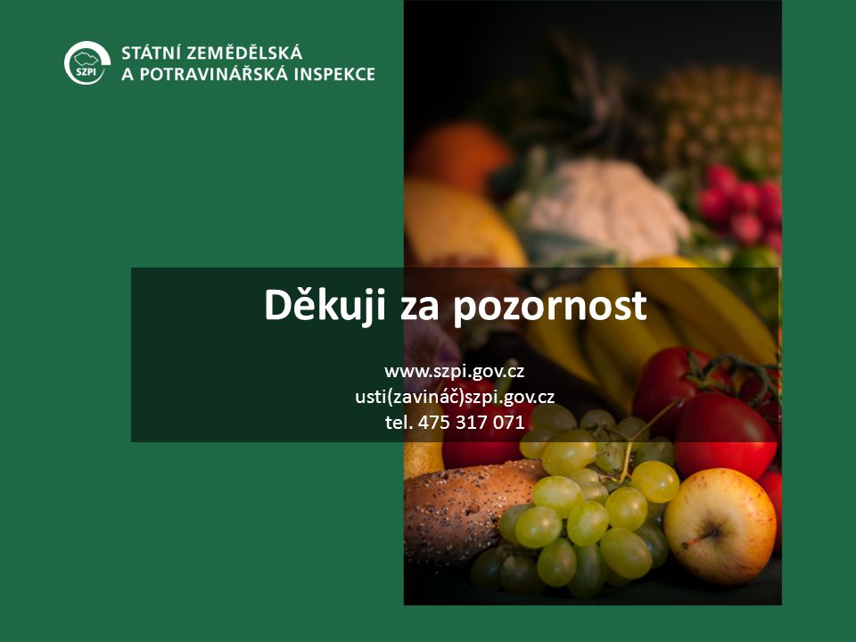 Děkuji za pozornost www. szpi. gov. cz usti(zavináč)szpi. gov. cz tel