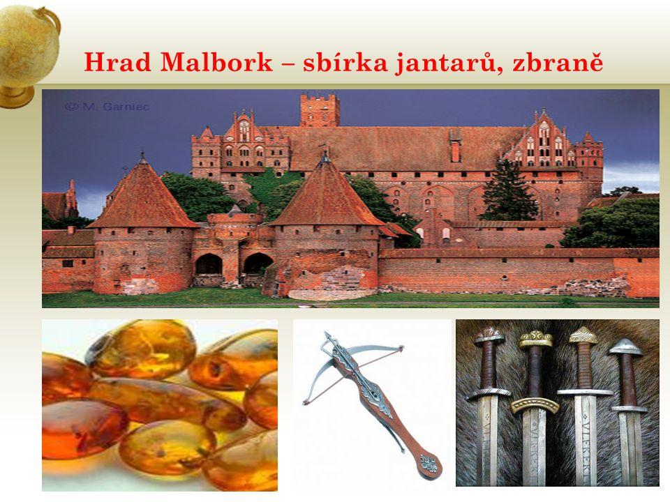 Hrad Malbork – sbírka jantarů, zbraně