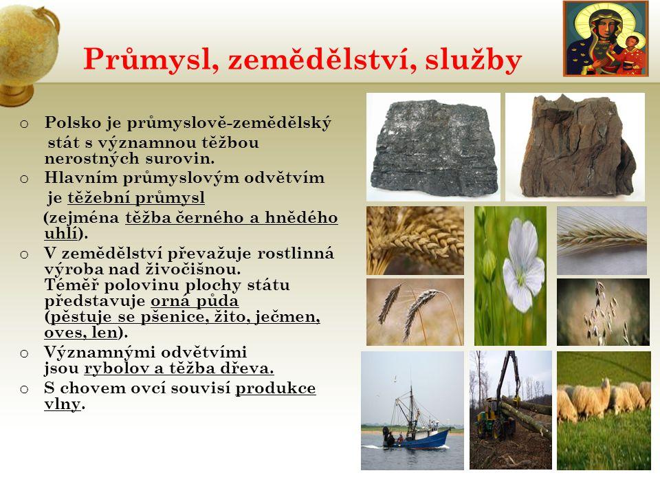 Průmysl, zemědělství, služby