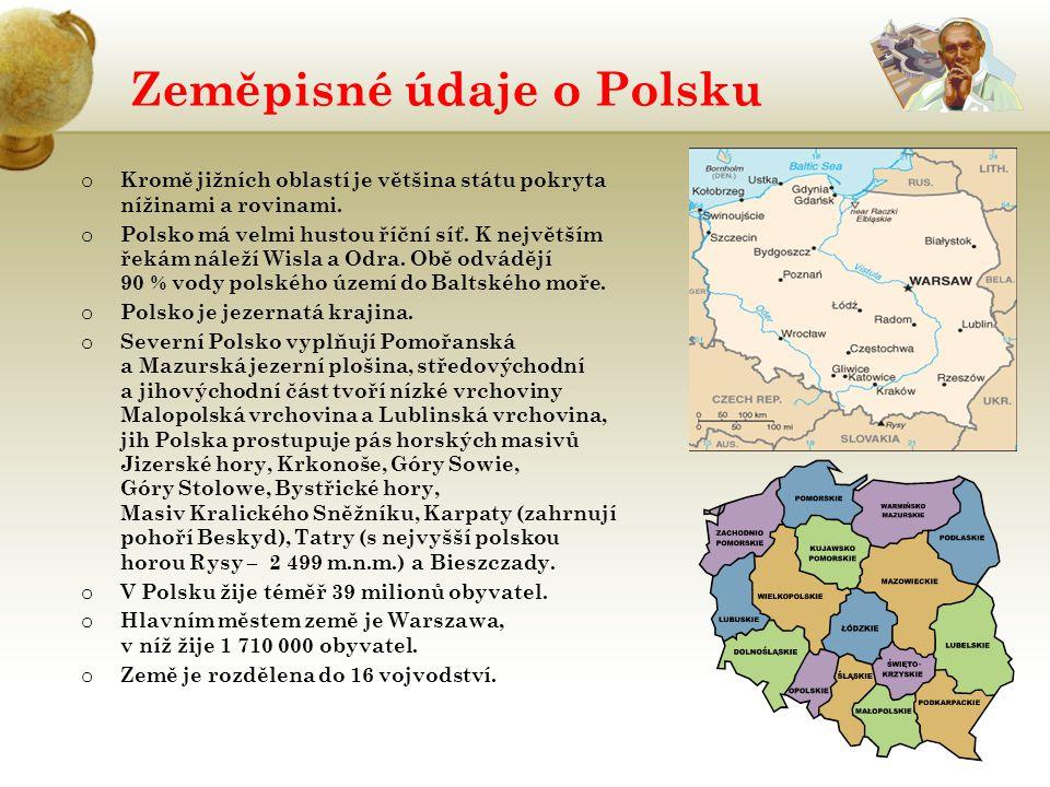 Zeměpisné údaje o Polsku