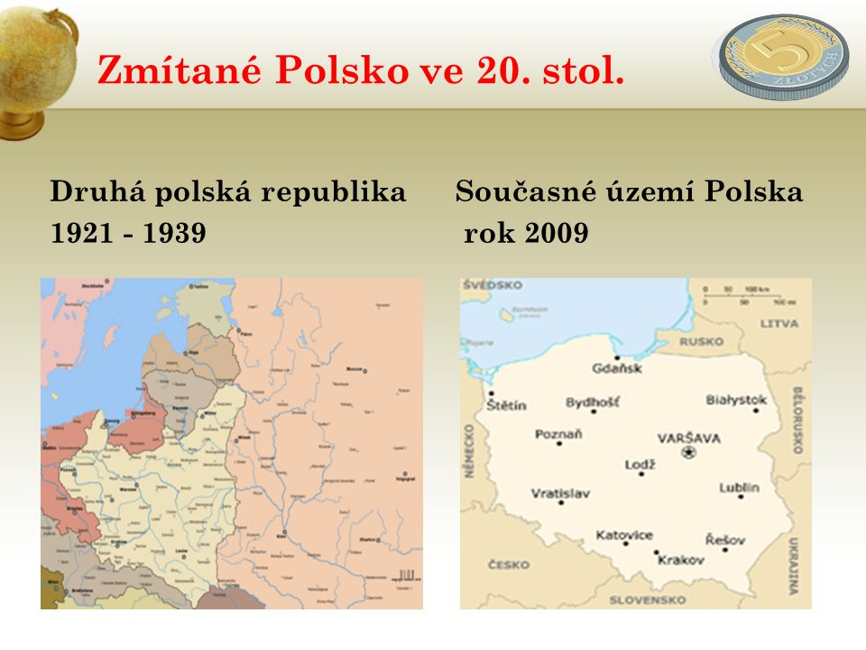 Zmítané Polsko ve 20. stol. Druhá polská republika 1921 - 1939