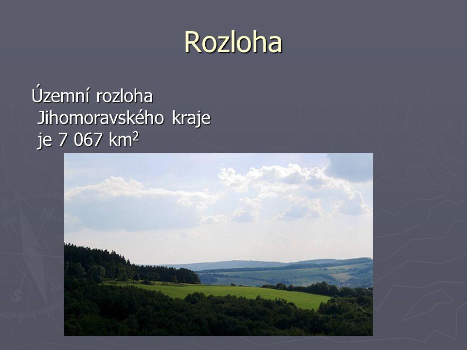 Rozloha Územní rozloha Jihomoravského kraje je 7 067 km2