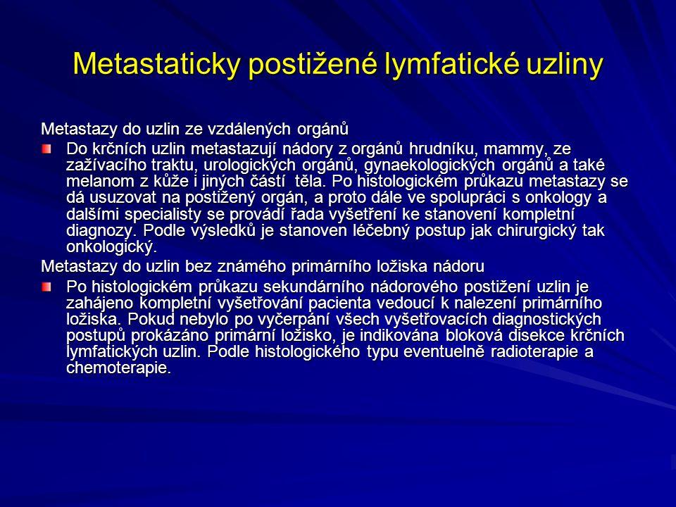 Metastaticky postižené lymfatické uzliny