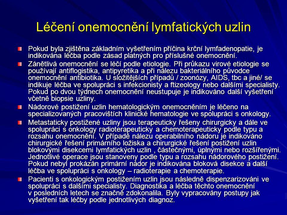 Léčení onemocnění lymfatických uzlin