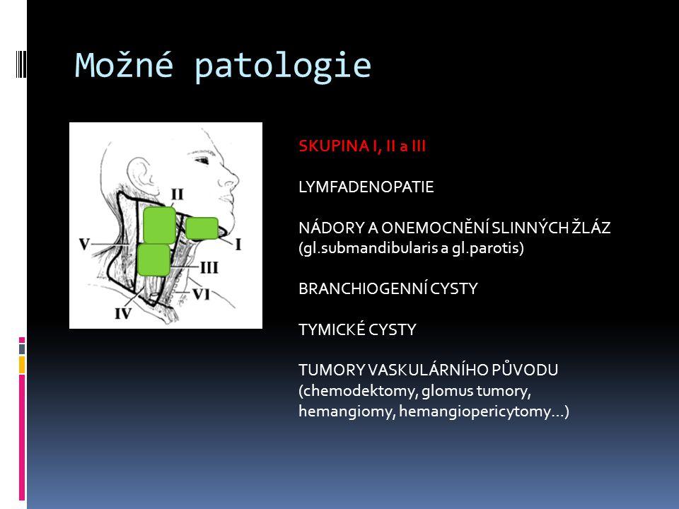 Možné patologie SKUPINA I, II a III LYMFADENOPATIE