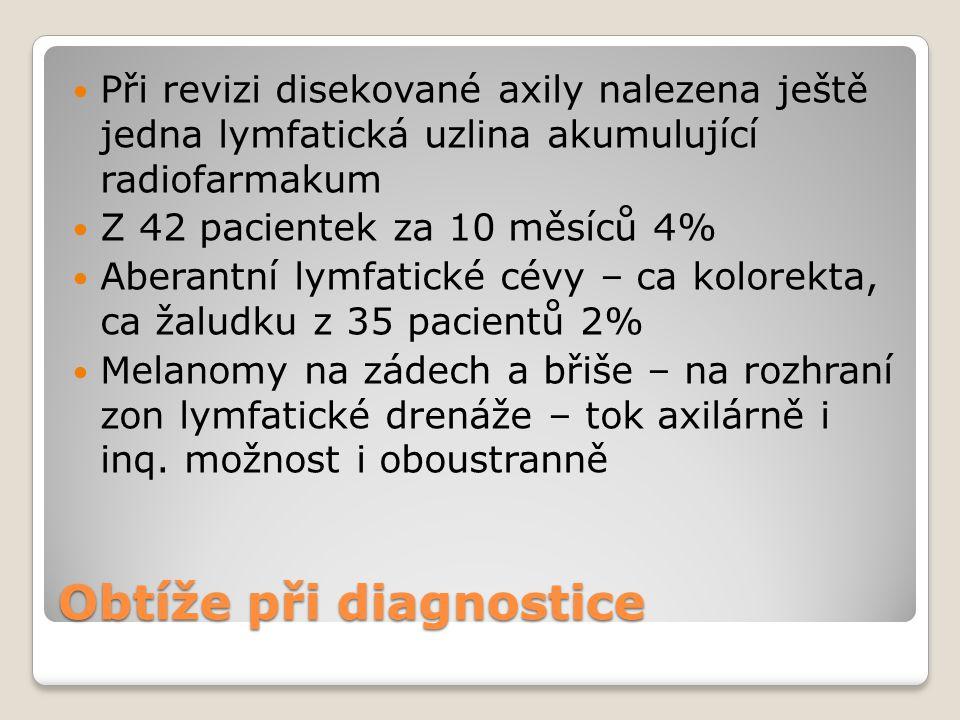 Obtíže při diagnostice