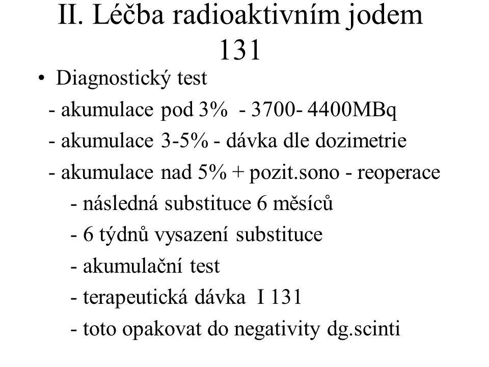 II. Léčba radioaktivním jodem 131