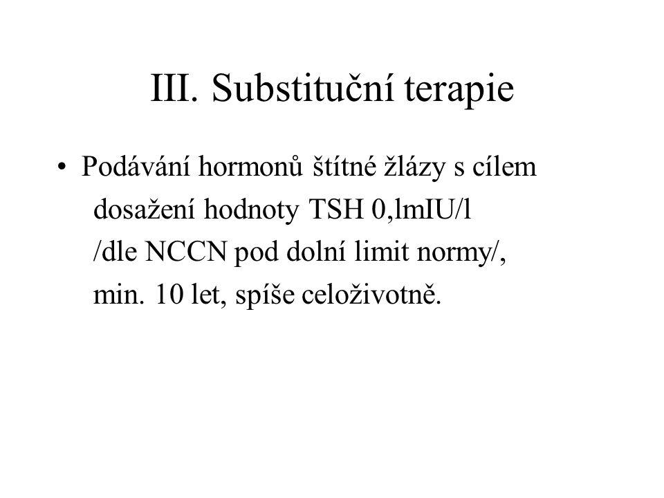 III. Substituční terapie