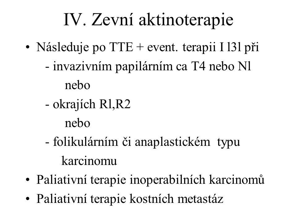 IV. Zevní aktinoterapie