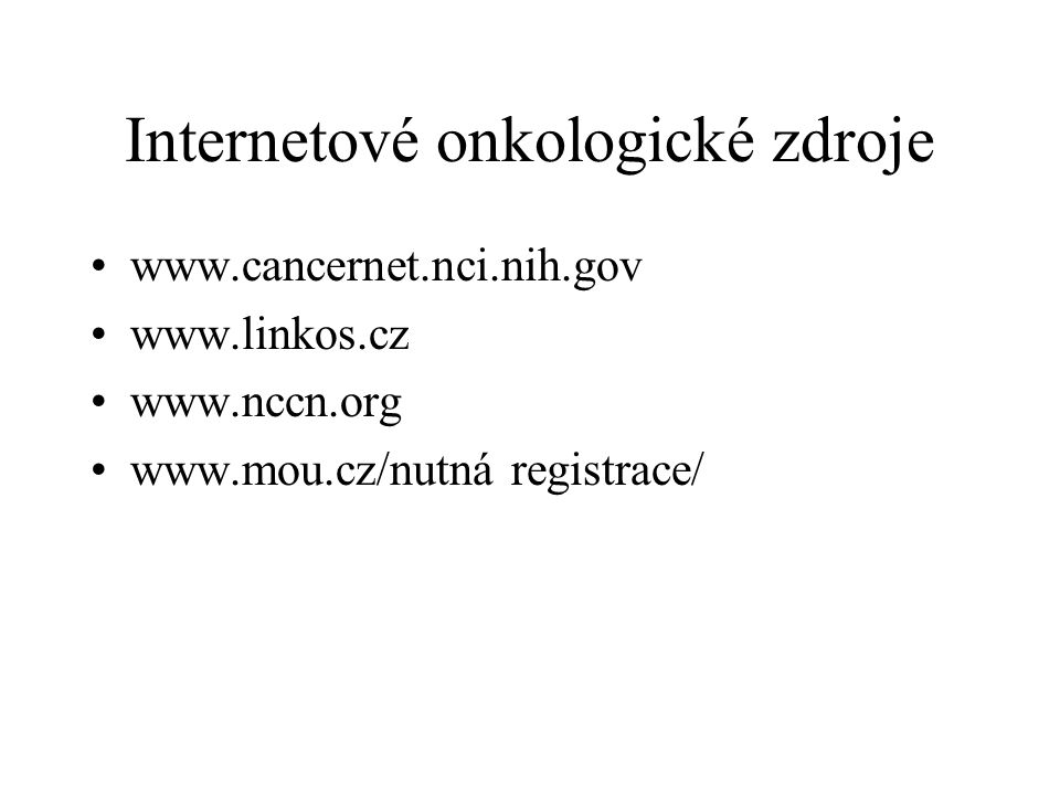 Internetové onkologické zdroje