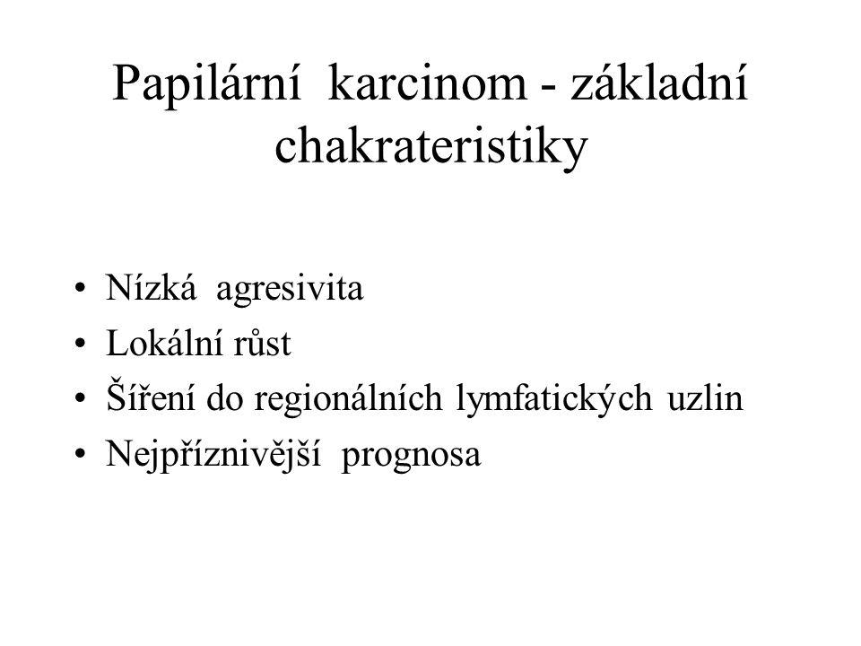 Papilární karcinom - základní chakrateristiky