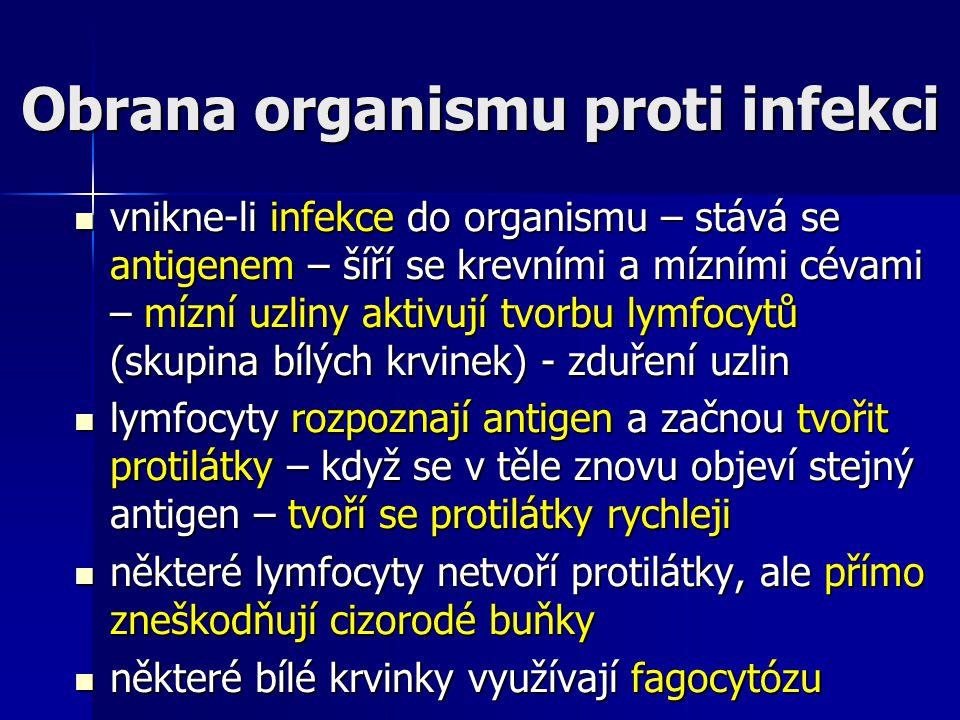 Obrana organismu proti infekci