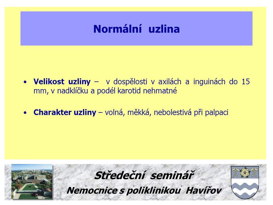 Normální uzlina Středeční seminář