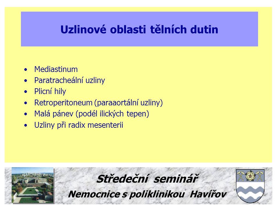 Uzlinové oblasti tělních dutin