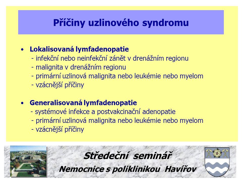 Příčiny uzlinového syndromu