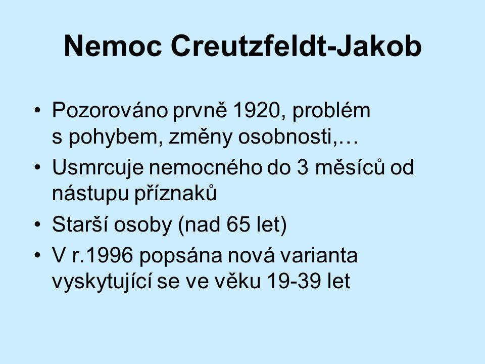 Nemoc Creutzfeldt-Jakob