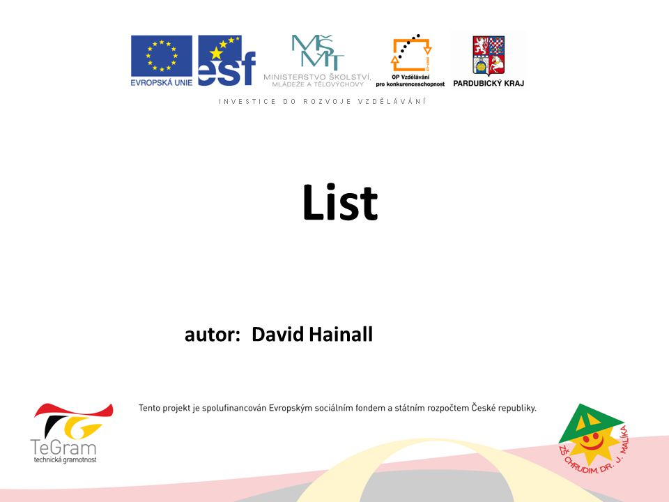 List autor: David Hainall