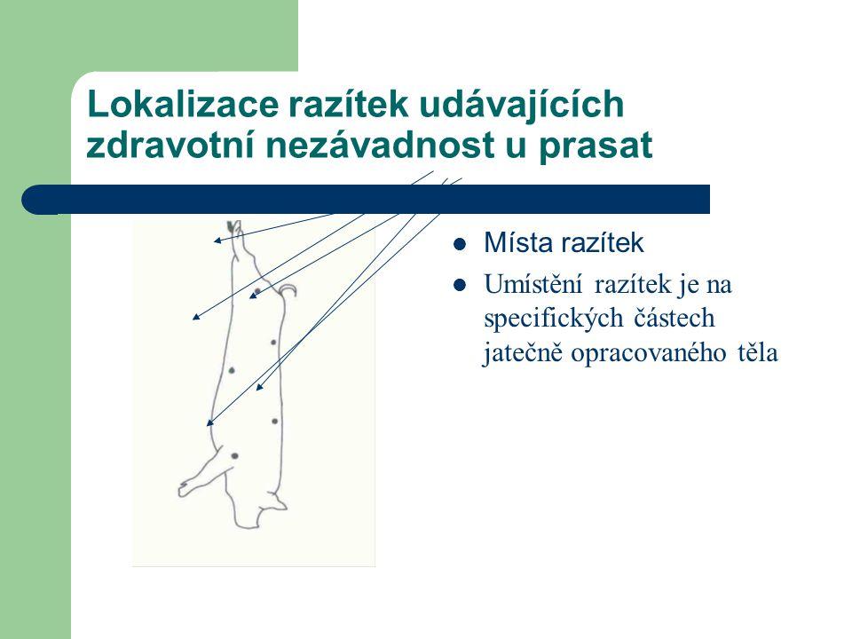 Lokalizace razítek udávajících zdravotní nezávadnost u prasat