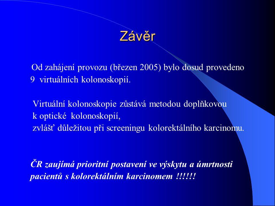 Závěr Od zahájení provozu (březen 2005) bylo dosud provedeno